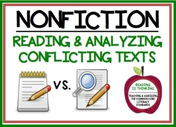 Reading Conflicting Texts - Project (RI.8.1, RI.8.3, RI.8.8, & RI.8.9.).
