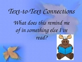 Reading Connections Posters- Text-to-self, Text-to-text, T