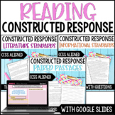 Reading Constructed Response