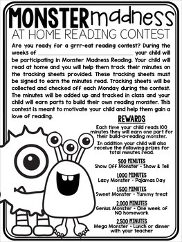 At Home Reading Contest