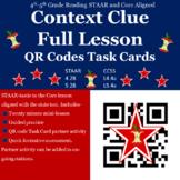 """Context Clues"" STAAR-TEKS/CORE Aligned lesson including Q"