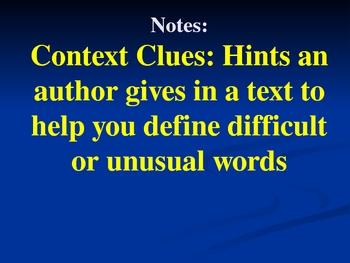 Reading Context Clues