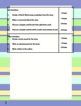 Reading Contract - For Homework/School