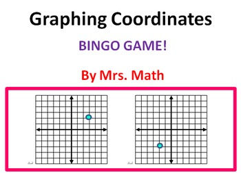Reading Coordinates from Graphs BINGO (Mrs Math)