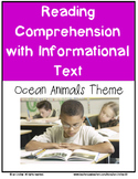 Reading Comprehension with Informational Text: Ocean Anima