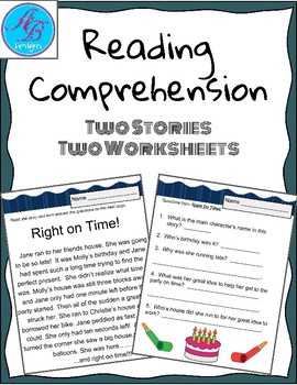 Reading Coprehention. No Prep. Worksheets.