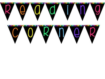 Reading Corner, Writing and Maths Bunting Bundle