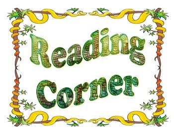 Reading Corner / Class Library Sign - Snake Themed