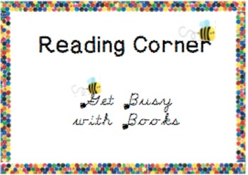 Reading Corner Display- Get Busy with Books- Eric Carle inspired