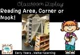 Reading Corner, Nook & Area Display Half Size
