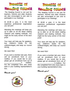 Reading Council Benefits Flyer