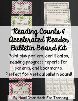 Reading Counts & Accelerated Reader Posters Bulletin Board Kit {Polka Dot}