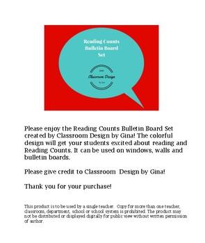 Reading Counts Bulletin Board Set