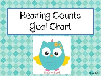 Reading Counts 300 pts. Goal Chart Owl Theme