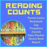 Reading Counts Pack Grade 1-6 Parent Letter, Bookmark, Data Tracker, Reading Log