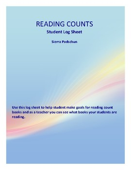Reading Counts Log