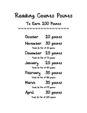 Reading Counts Points Slips and Point Schedule