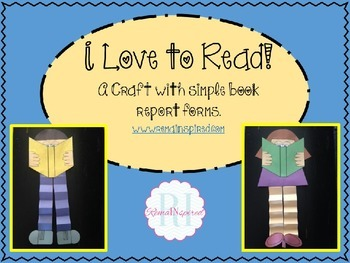 Reading Craft and Book Report Forms