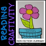 Reading Craftivity: Nonfiction Summary Flower