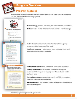 Reading Dailies Grade 4 Teacher's Guide