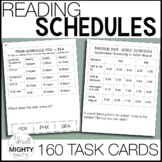 Reading Daily Schedules Task Cards  / Life Skills Reading
