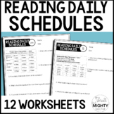 Reading Daily Schedules Worksheets  / Life Skills, Special Education