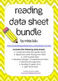 Reading Data Sheet Bundle for Special Education