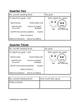 Reading Data Tracker Sheet