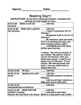 Reading Day Checklist
