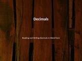 Reading Decimals PPT