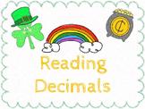 Reading Decimals:  St. Patrick's Day