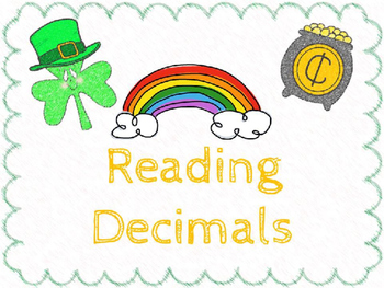 Reading Decimals:  St. Patrick's Day
