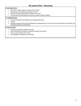 Reading Decoding & Social Studies Integrated 5E Lesson Plan