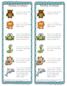 Reading Decoding Strategies Poster and Bookmark (Spanish Bookmark included)
