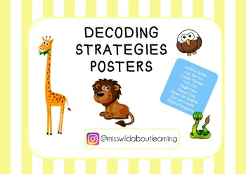 Reading Decoding Strategies - Posters