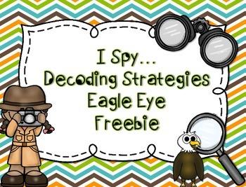 Reading Decoding Strategy...Eagle Eye Freebie