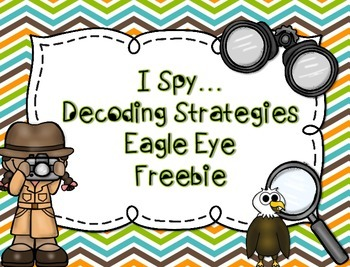 Reading Decoding Strategy...Eagle Eye Freebie by Fab 4