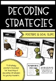 Reading Decoding Strategy Posters and Goal Slips