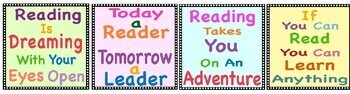 Reading Decor For Bulletin Boards, Reading Centers, Fun Posters