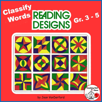 VOCABULARY | Early Finishers | GEOMETRIC DESIGNS | Color |Gr 3-4-5 REVIEW