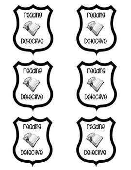Reading Detective Badges