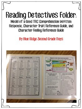 Reading Detective Folder: Written Response, Character Traits, and Feelings