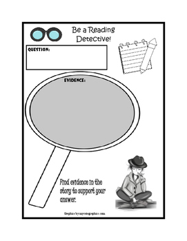 Reading Detective Graphic Organizer