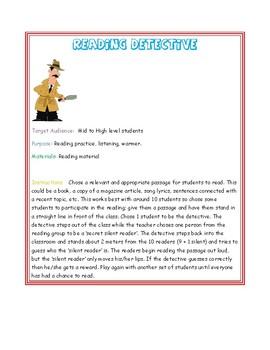 Reading Detective ( Reading Activity)