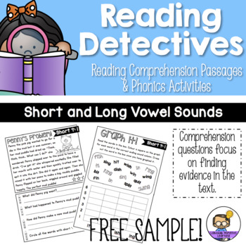 Reading Detectives: Comprehension Passages and Phonics – V