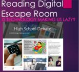 Reading Digital Escape Room - Debate: Is Tech Making us La