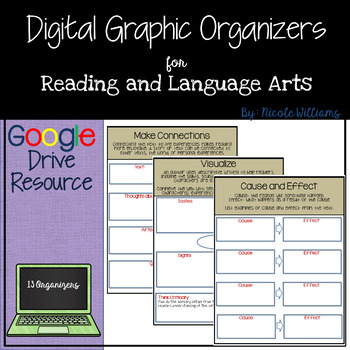 Reading Digital Graphic Organizers for Google Drive