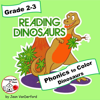 PHONICS in Dinosaurs | Color by Words | PRACTICE Phonics | CORE Gr 2-3 Language