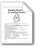 Reading Directions at Learning Centers (Teachers)