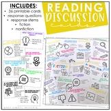 Reading Discussion Cards (Fiction & Nonfiction)